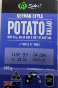 """Australien: Kartoffelsalat """"Deutscher Art"""". Wäre in Deutschland kein Verkaufsschlager"""