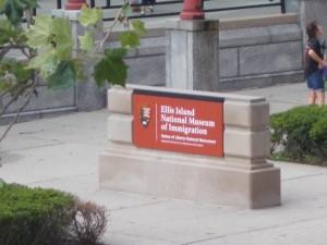 Eingang zum Museum auf Ellis Island