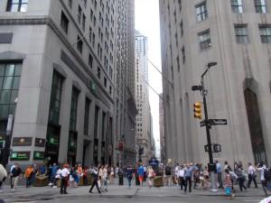 Blick in die Wall Street