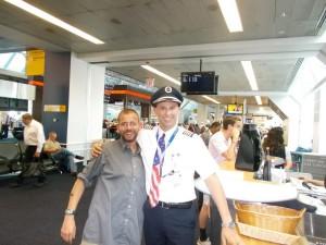 Der Pilot meines Fluges und ich