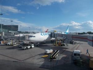 Mein Flugzeug von Kanada nach Frankreich