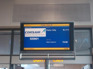 Warten auf den Abflug in Montreal